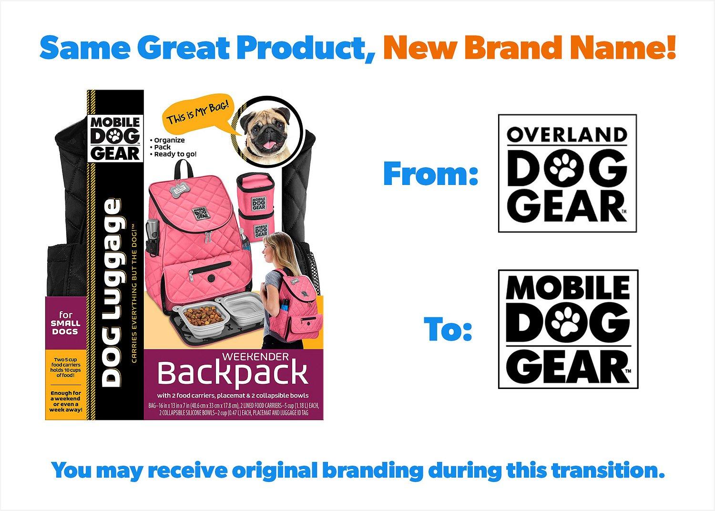 Overland Dog Gear Weekender Backpack Pet Travel Bag, Black ...