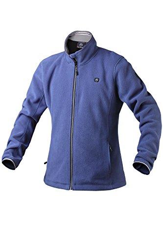 Pau1Hami1ton Women's Sherpa Fuzzy Fleece Heated Jacket Full-Zip (Power Bank not Included) PJ-06 (L, Blue)