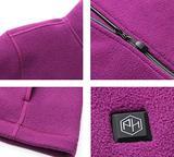 Pau1Hami1Ton Women&X27;S Sherpa Fuzzy Fleece Heated Jacket ...
