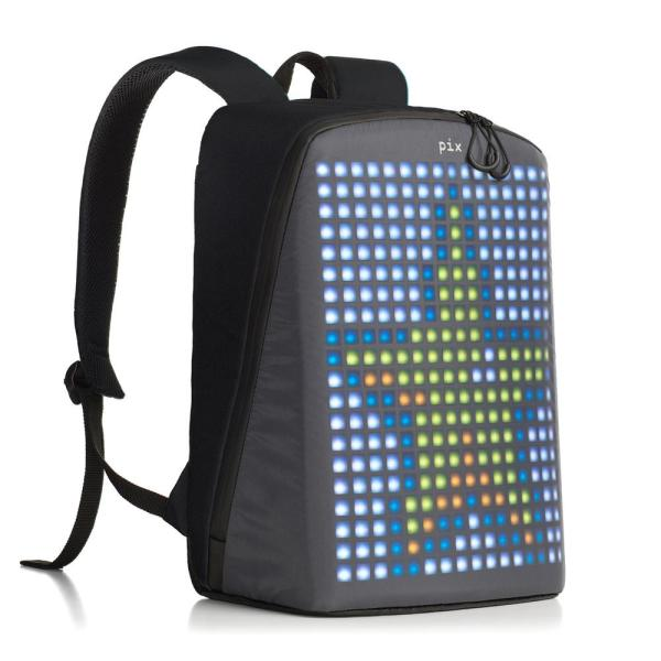 PIX 16 in. Black Smart Urban Backpack With Customizable ...
