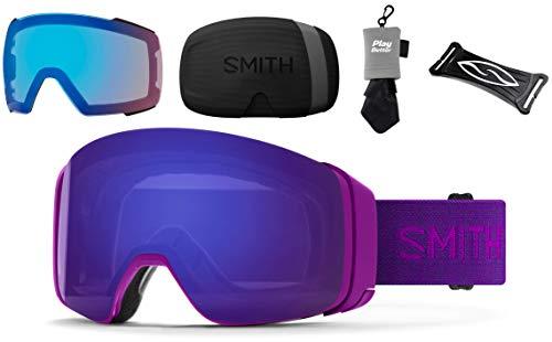 PlayBetter Smith Optics 4D MAG Snow Goggles Bundle - Fuchsia/Everyday Violet Mirror