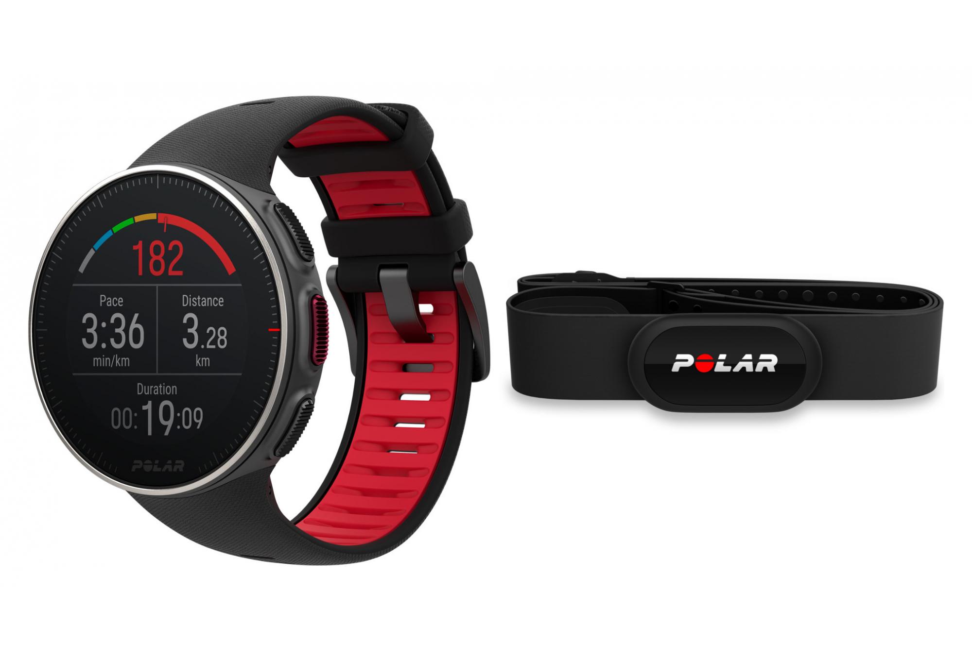Polar Vantage V Titan HR HR Black Red GPS Watch ...