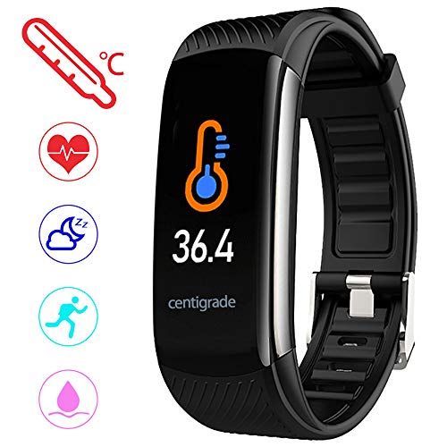 PYBBO Fitness Tracker with Body Temperature - Black
