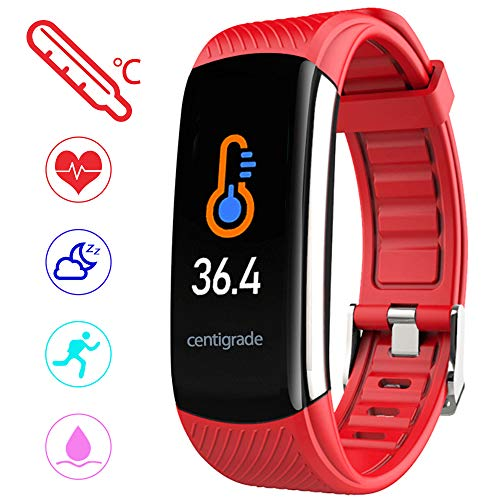 PYBBO Fitness Tracker with Body Temperature Blood - Red