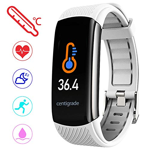 PYBBO Fitness Tracker with Body Temperature Blood - White