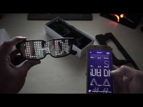 Recensione CHEMION - Occhiali a LED programmabili - YouTube