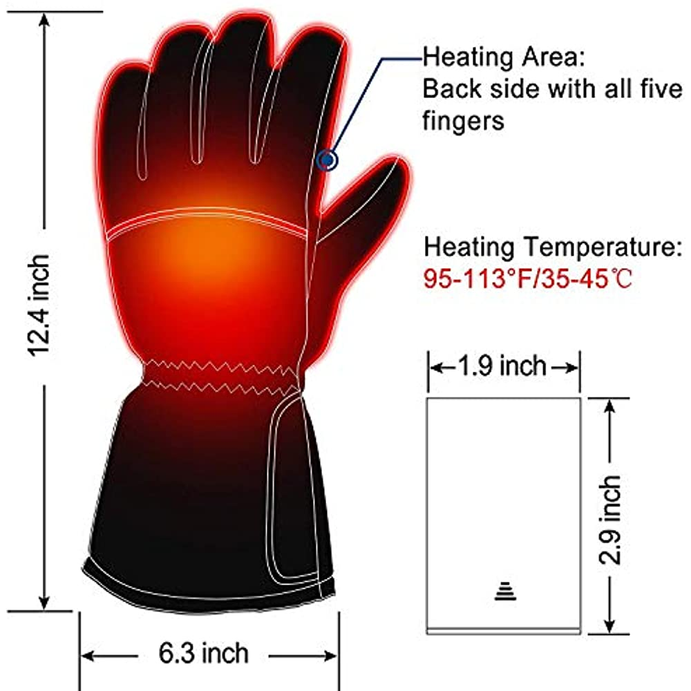 Rechargeable Electric Hand Warmers Battery Heated Gloves ...
