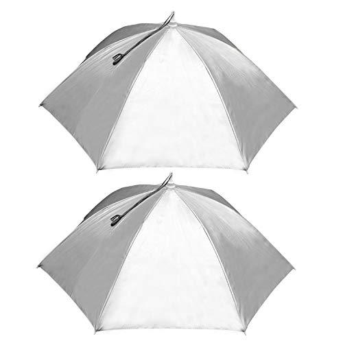 "RedSwing 25"" Diameter Small Umbrella Hat - 2 Pack - Silver"