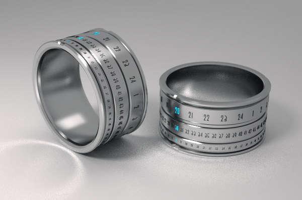 Revolutionary Time-Telling Rings : Ring Clock