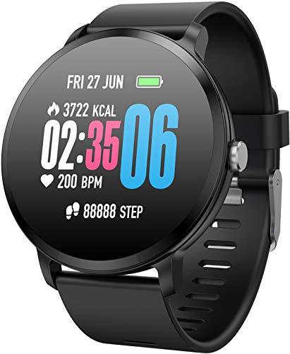 Round Touchscreen Smart Watch IP68 - BLACK