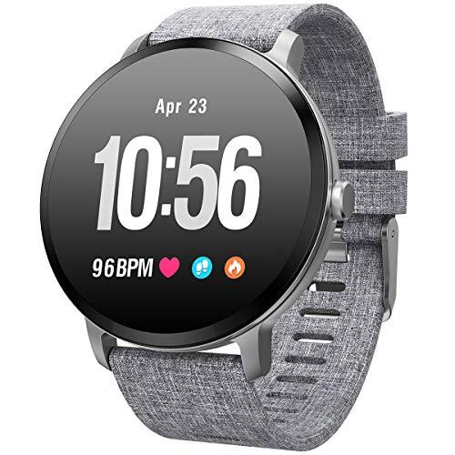 Round Touchscreen Smart Watch IP68 - GREY