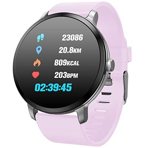Round Touchscreen Smart Watch IP68 - PURPLE