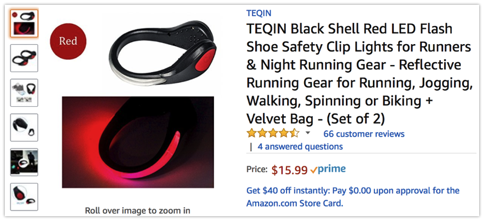 Safer Nighttime Exercise with LED Shoe Clip Lights ...