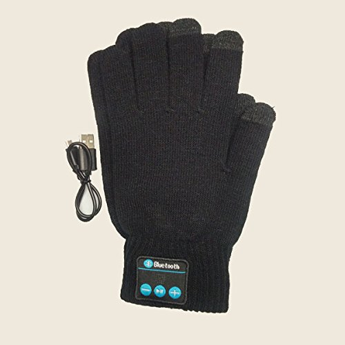Savage Bluetooth Gear Wireless Smartphone Enabled Gloves with Easy Connect Smartphone Technology Black