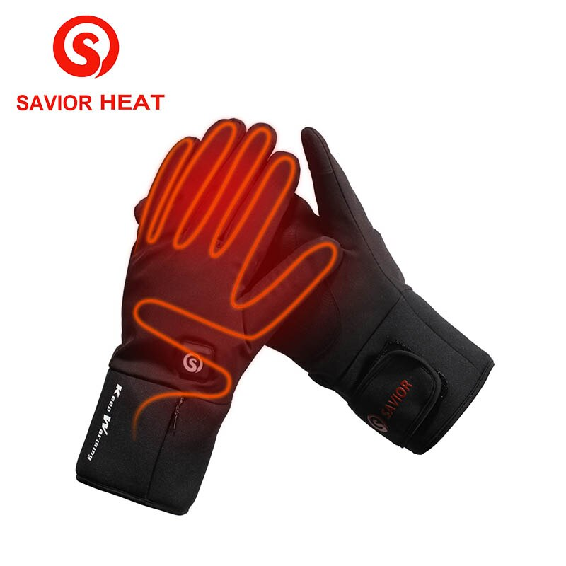 SAVIOR HEAT Electric Heated Gloves Temperature 7.4V ...