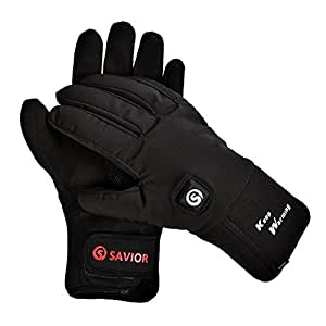 Savior Heated Gloves, Electric Rechargeable Fleece lined ...