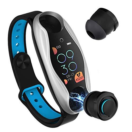 Smart Watch with Bluetooth Earphone - BLUE