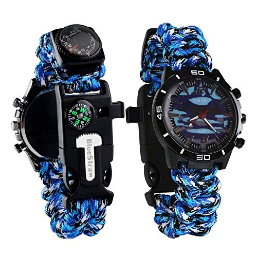 Survival Sport Paracord Watch - BLUE
