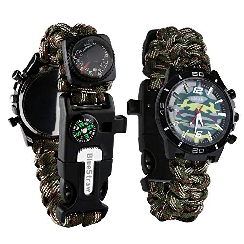 Survival Sport Paracord Watch - CAMO GREEN