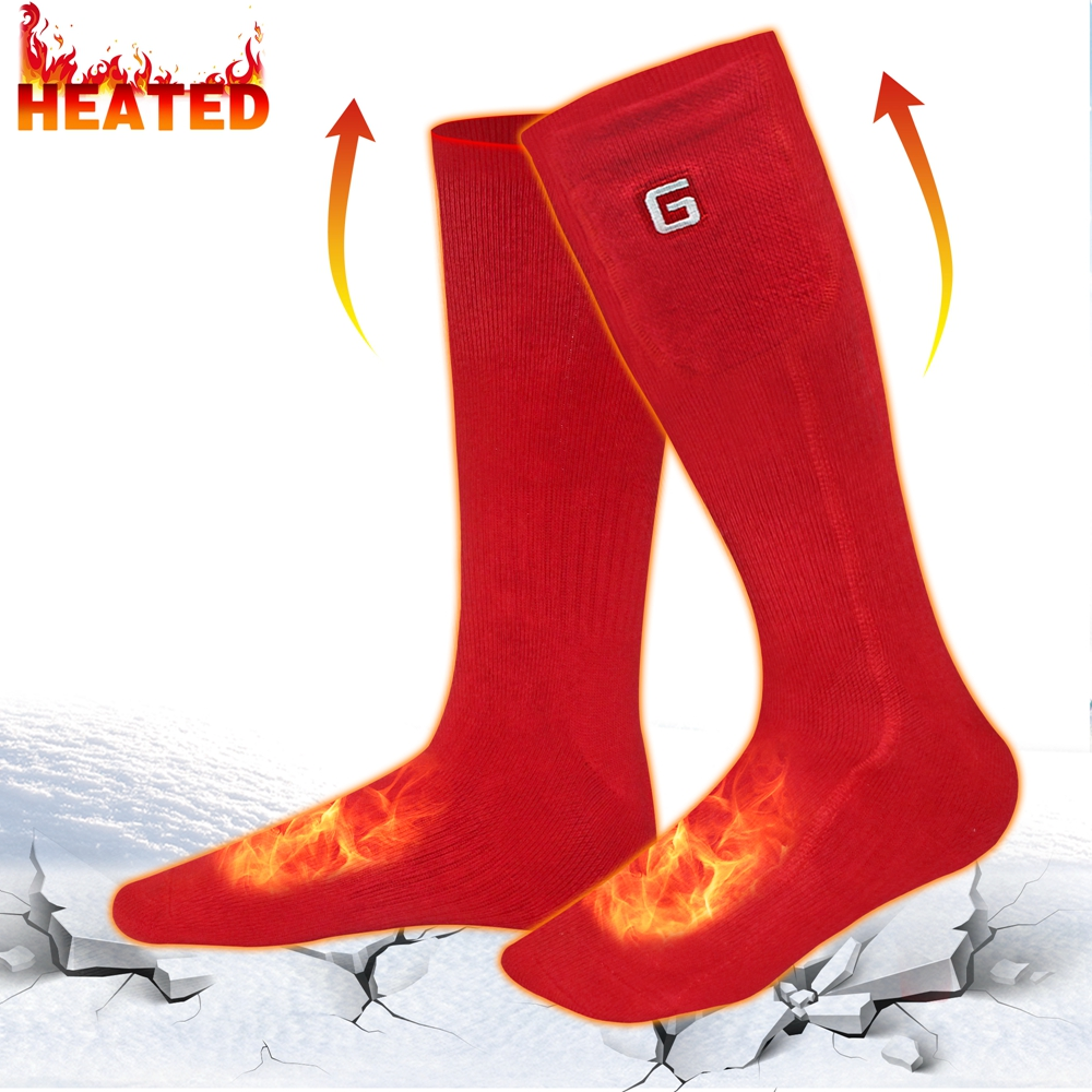 SVPRO 3.7V Electric Heated Socks With Rechargeable Battery ...