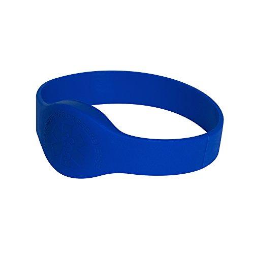 Tap2Tag 173 mm Medium Blue Teardrop Medical Alert Wristband