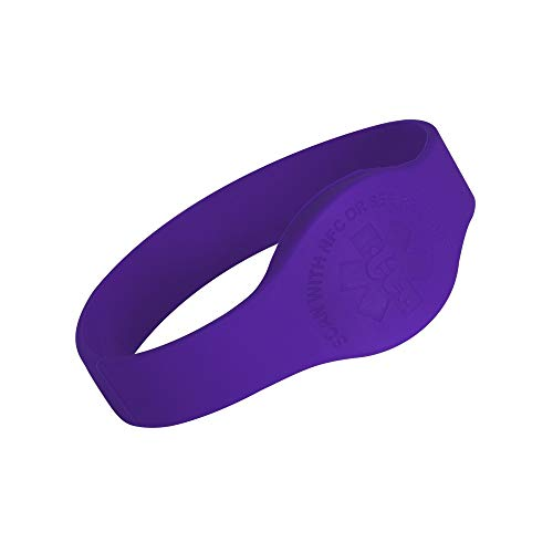 Tap2Tag Medical Alert Wristband (M, Purple)