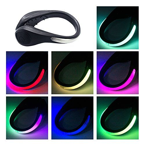 TEQIN Black Shell Colorful LED Flash Shoe Safety Clip ...