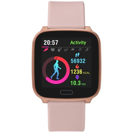 Timex Iconnect Active TW5M34400 Pink Resin Automatic Self Wind Smart Watch