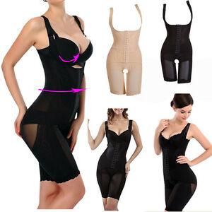 UK Women Slim Full Body Waist Trainer Shaper Shrink Thigh ...