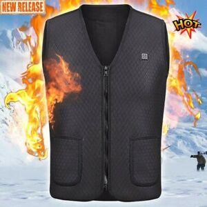 Unisex Electric Vest Heated Jacket USB Thermal Warm Heat ...
