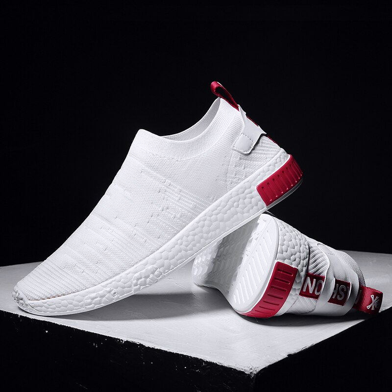 UNN Summer White Shoes Men Sneakers Breathable Slip on ...