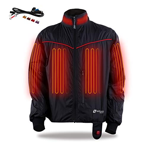 Venture Heat 12V Motorcycle Heated Jacket Liner, 7 Heating Zones, Lite - 42 Watt, Protective Riding Gear, GT1650 (XXL)