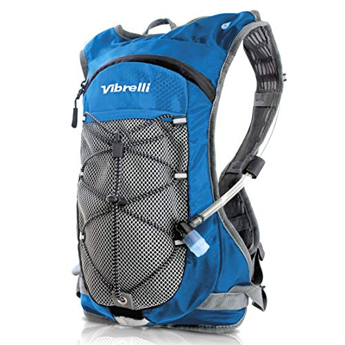 Vibrelli Hydration Pack & 2L Hydration Water Bladder - BLUE