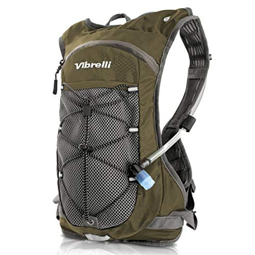Vibrelli Hydration Pack & 2L Hydration Water Bladder - BROWN