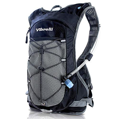 Vibrelli Hydration Pack & 2L Hydration Water Bladder - BLACK