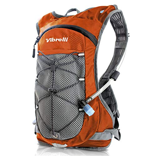Vibrelli Hydration Pack & 2L Hydration Water Bladder - ORANGE