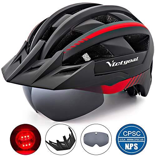 VICTGOAL Bike Helmet (Black Red)