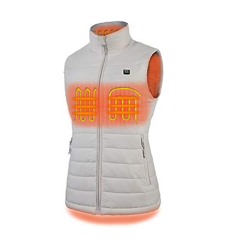 Women's Heated Vest with Battery Pack - Beige
