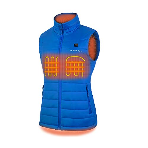 Women's Heated Vest with Battery Pack - Blue