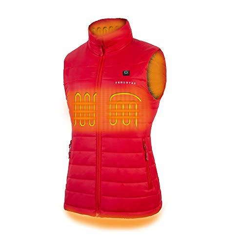 Women's Heated Vest with Battery Pack - Red