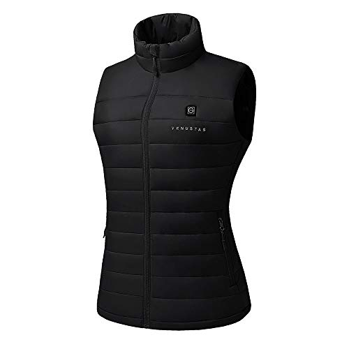 Women's Heated Vest with Battery Pack - Black