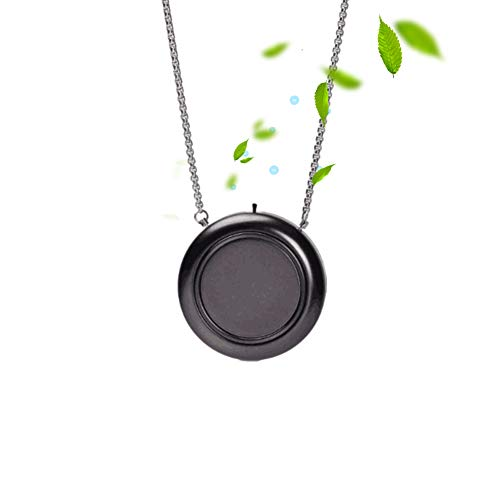WOOLALA Personal Wearable Air Purifier Necklace - BLACK