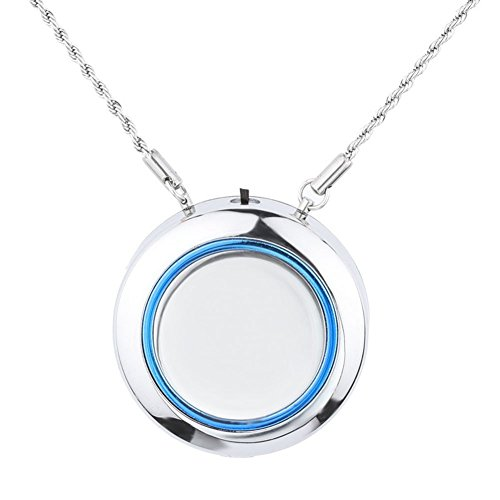 WOOLALA Personal Wearable Air Purifier Necklace - SILVER