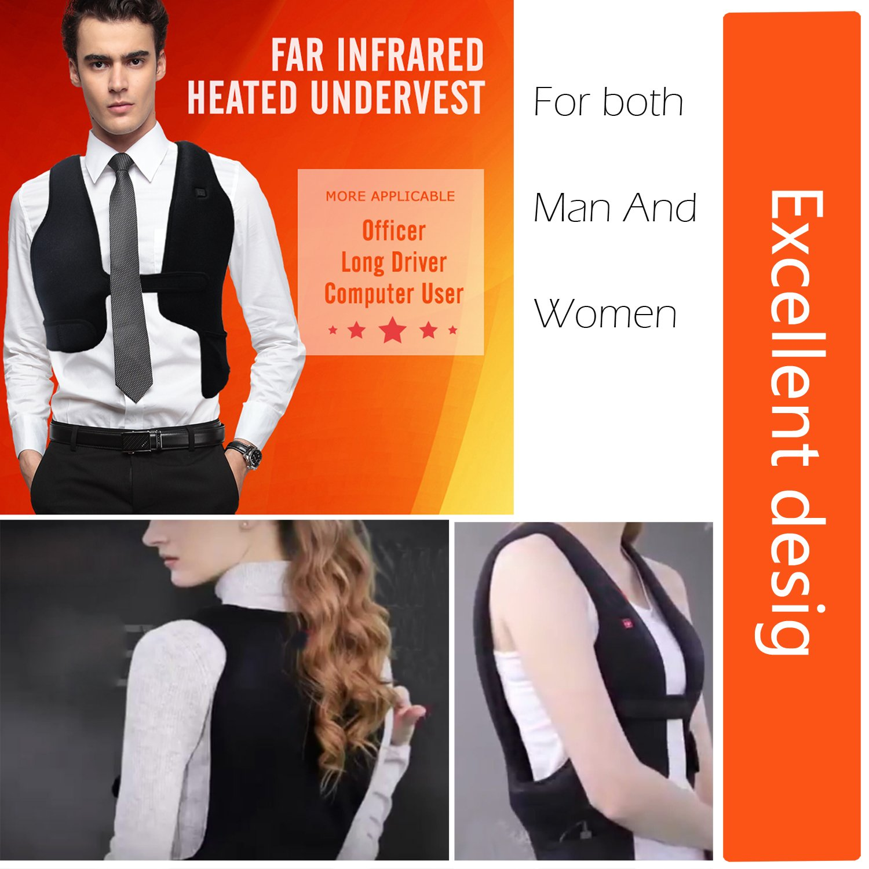 Yooshare Heated Vest Far Infrared Temperature Adjustable ...