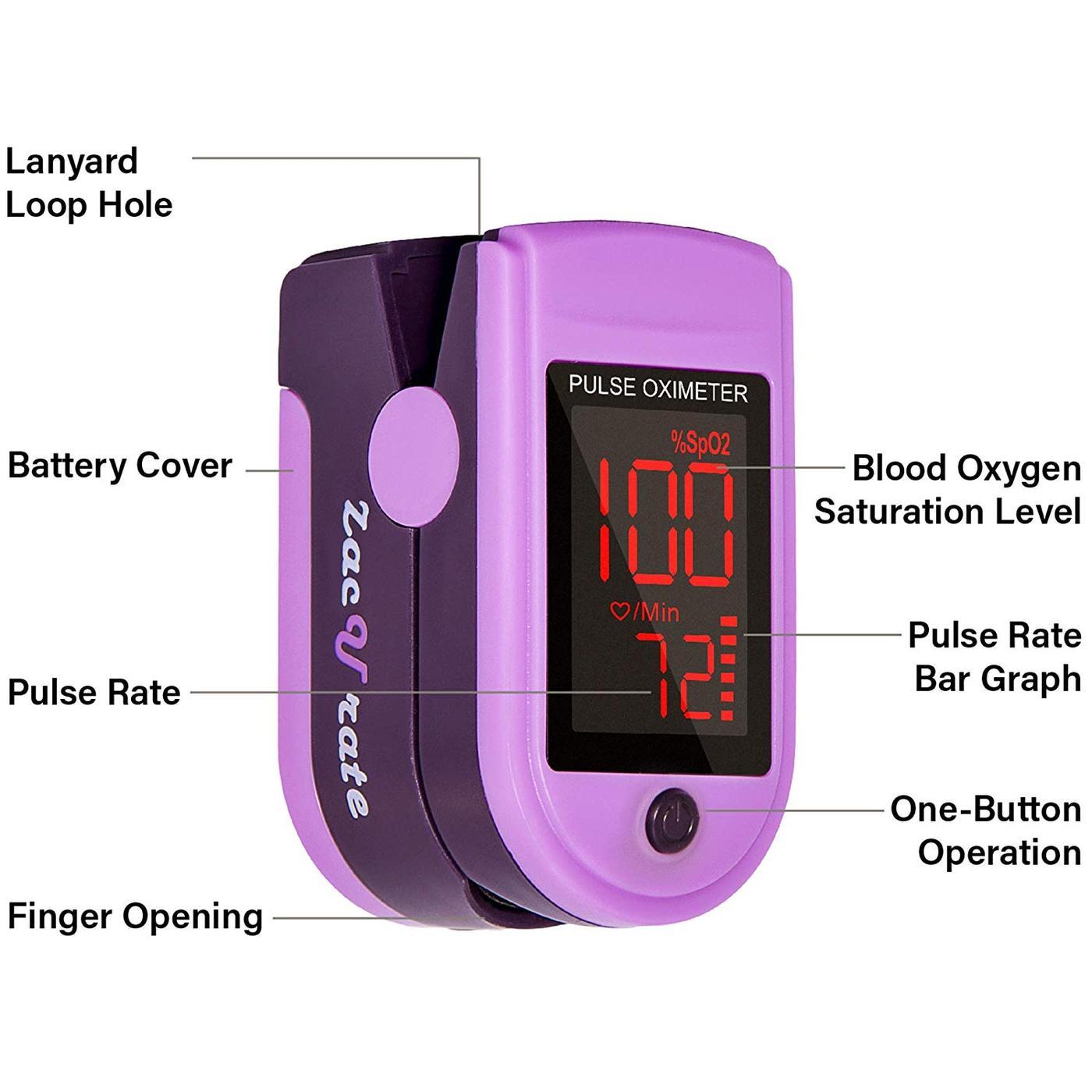 Zacurate Pro Series 500DL Fingertip Pulse Oximeter (Mystic ...
