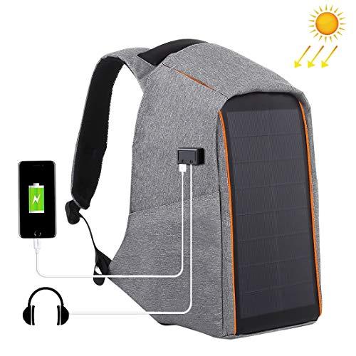 12W Flexible Solar Panel Power Backpack (Grey)