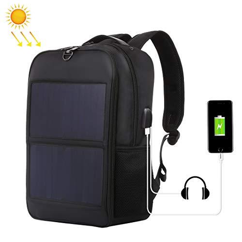 14W Solar Panel Power Backpack (Black)