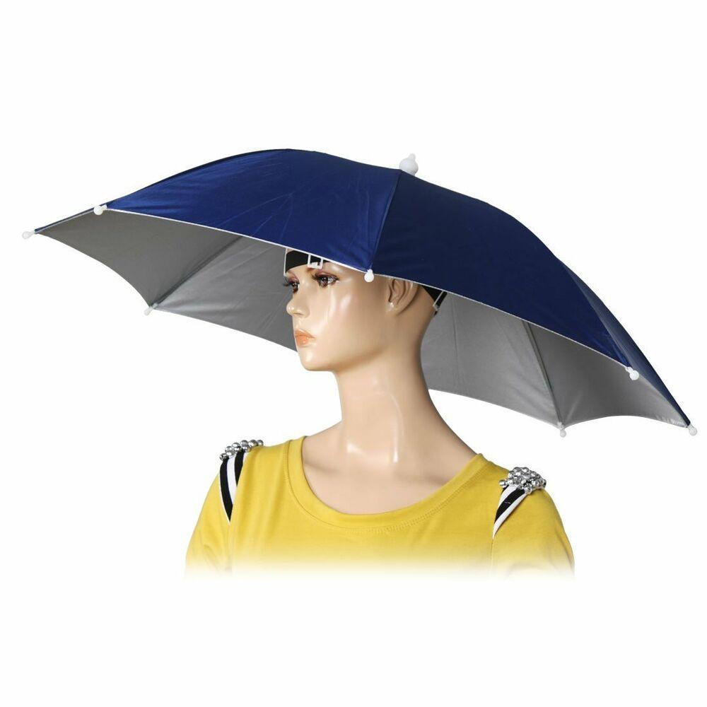 "26"" Diameter Elastic Band Fishing Headwear Umbrella Hat ..."