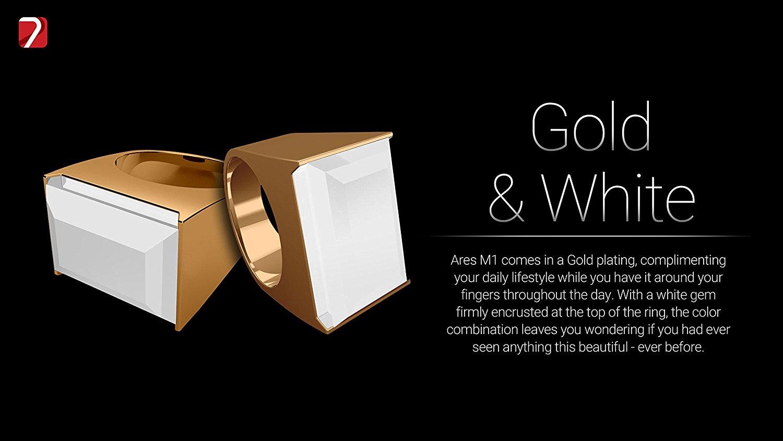 7 Ares Smart Ring - Gold & White - Buy Smart Rings