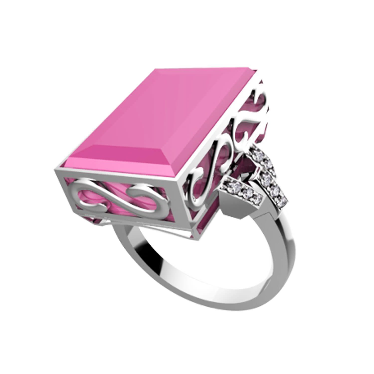 7 Ares Smart Ring - Silver & Pink - Buy Smart Rings